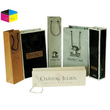 High quality wine gift bag with ribbon handle