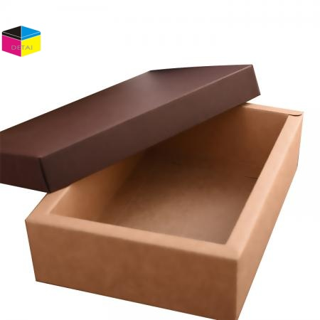 Kraft foldable bottom and lid box