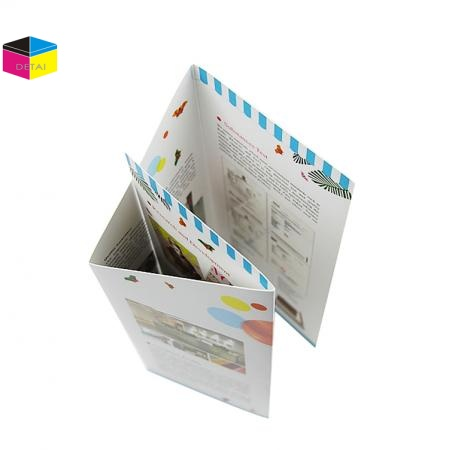 Folded flyer printing brochure