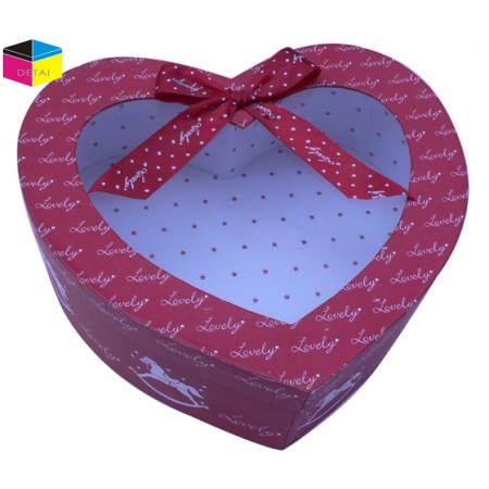 Heart shape rigid gift boxes