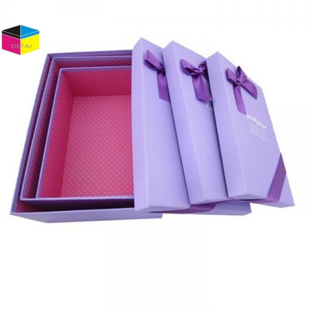 Quality gift box with ribbon bow