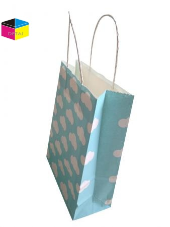 White kraft paper gift bag
