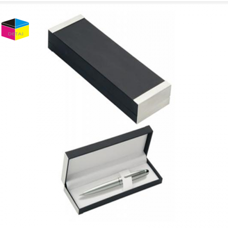 Hinged Leather Quality Display Pen Box For Promotion