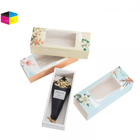 Printed Drawer Box With Sleeve With PVC Window