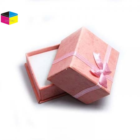 Fancy Ring Box/Earring Box with Ribbon Bow