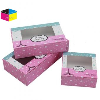 paper packing box with PVC Window