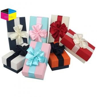 Gift boxes with ribbon bow