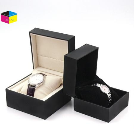 High Quality PU Leather Watch Boxes With Soft Pillow