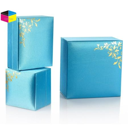 Blue Shiny Pearl Paper Jewelry Boxes