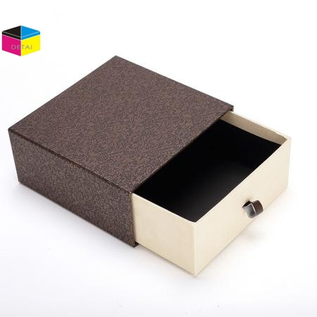 Textured Slide Box Drawer Box With Sleeve
