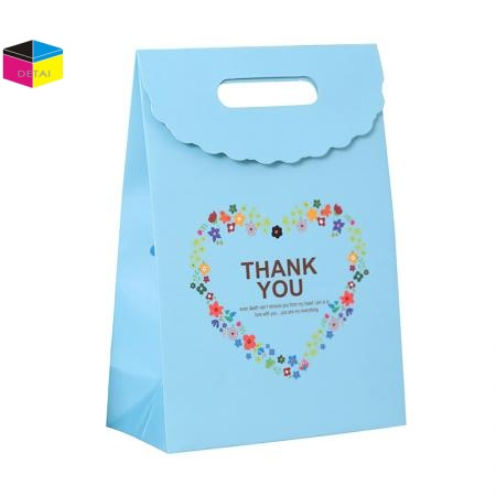 Fancy Gift Bag With Overflap closure