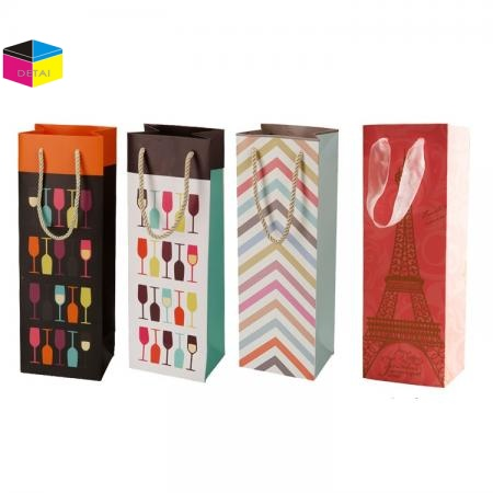 Print Wine Bags With PP handle