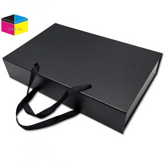 Rigid Drawer Box with Ribbon Handle supplier