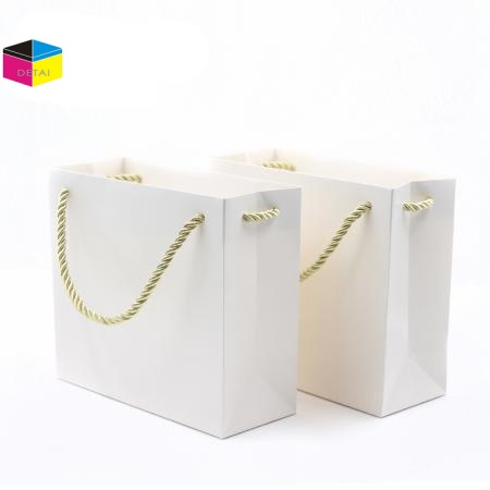White Card Paper Shopping Bag