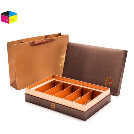 Luxury Textured Paper Tea Packing Boxes