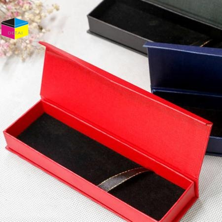 Textured Paper Pen Box with Magnet Closure